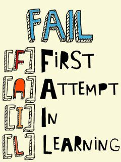 Fail - first attempt in learning