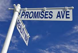 promises road sign