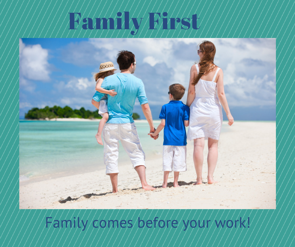 Be Smart, Put Your Family First