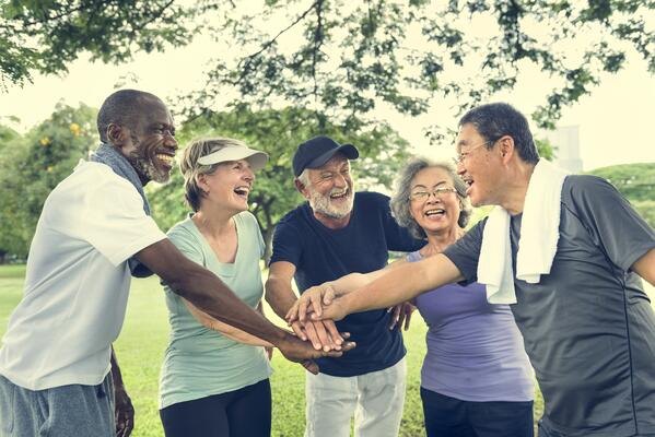 group-of-senior-retirement-exercising-together